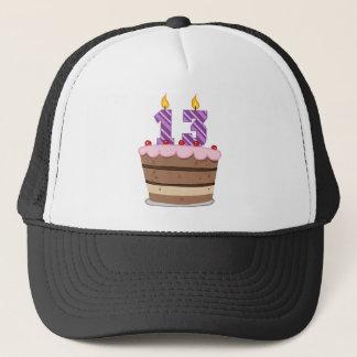 Age 13 on Birthday Cake Trucker Hat