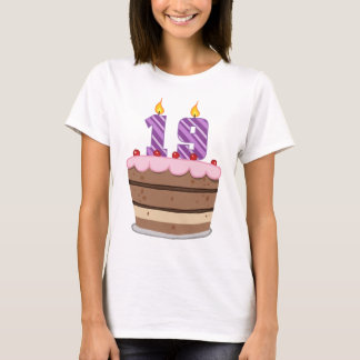 Age 19 on Birthday Cake T-Shirt