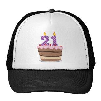 Age 21 on Birthday Cake Hat