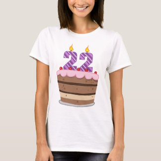 Age 22 on Birthday Cake T-Shirt