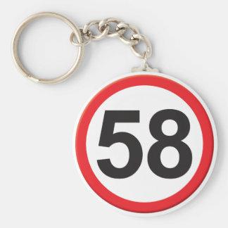 Age 58 keychains