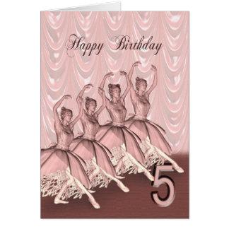 Age 5, a ballerina birthday card