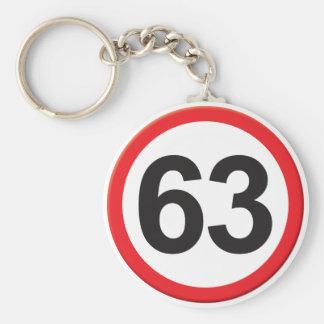 Age 63 keychain