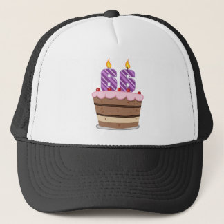 Age 66 on Birthday Cake Trucker Hat