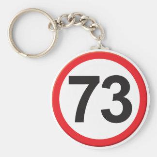 Age 73 basic round button key ring