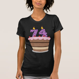 Age 74 on Birthday Cake Tees
