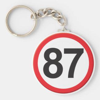 Age 87 key chains