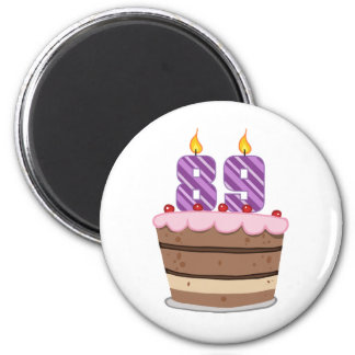 Age 89 on Birthday Cake Magnets
