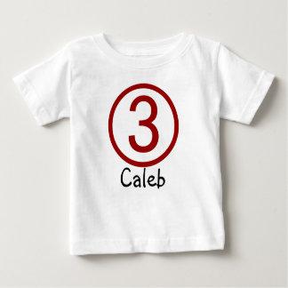 Age and Name  Customizable 3rd Birthday Tshirt
