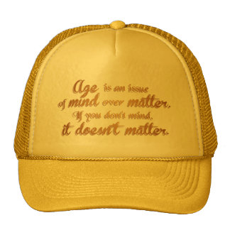 Age doesn't matter elegant brown and gold clock cap