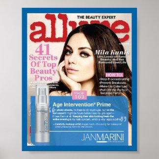 Age Intervention Prime in Allure Magazine Posters