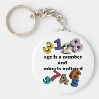 AGE IS A NUMBER BASIC ROUND BUTTON KEY RING