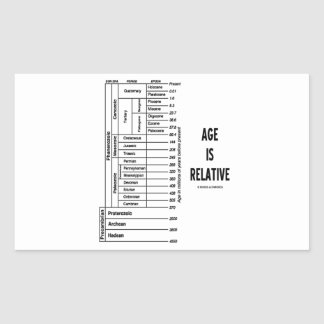 Age Is Relative (Geological Time Chart) Rectangular Sticker