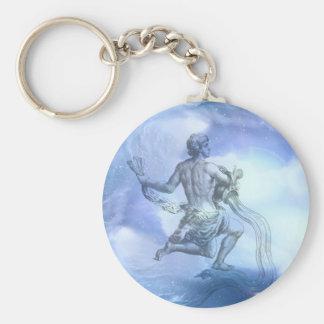 Age of Aquarius Basic Round Button Key Ring