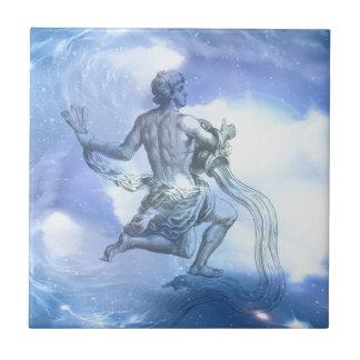 Age of Aquarius Zodiac Tile