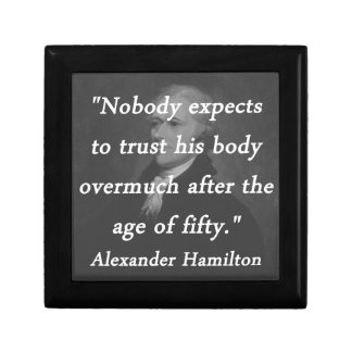 Age of Fifty - Alexander Hamilton Small Square Gift Box