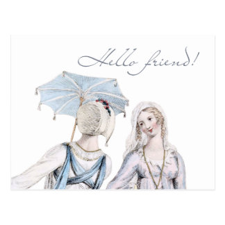 Age of Jane Austen Regency Hello Friend Postcard