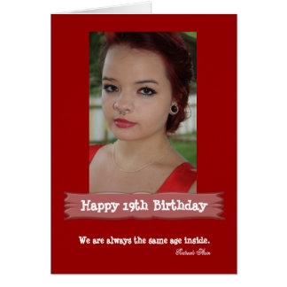 Age Photo Birthday Card