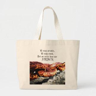Age & Strength Jumbo Tote Bag