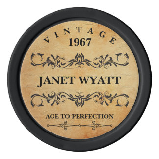 Age to Perfection Vintage - Any Birthday Poker Chips Set