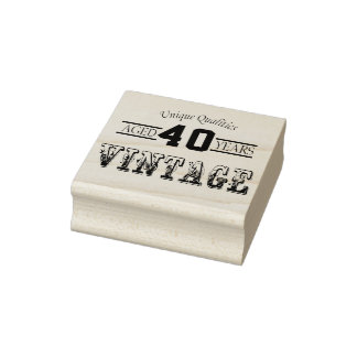 Aged 00 Years | Vintage Rubber Stamp