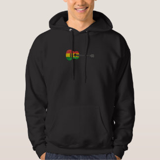 Aged and Worn Bolivian Flag Acoustic Guitar Hoodie