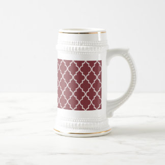 Aged Cabernet Background White Moroccan Elegant Mug