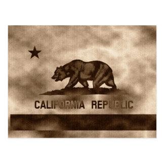 Aged California Flag Postcard