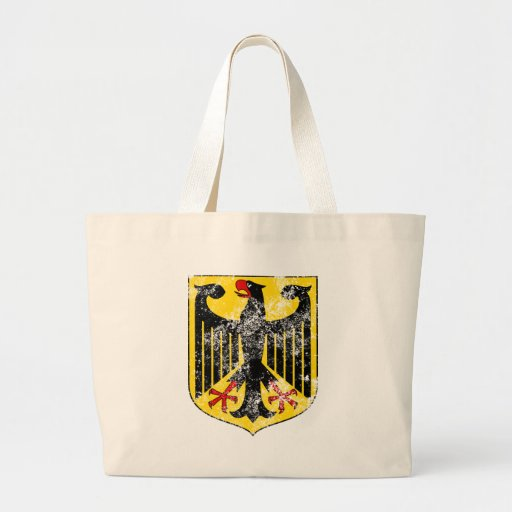 Aged Coat of Arms of Germany Canvas Bag