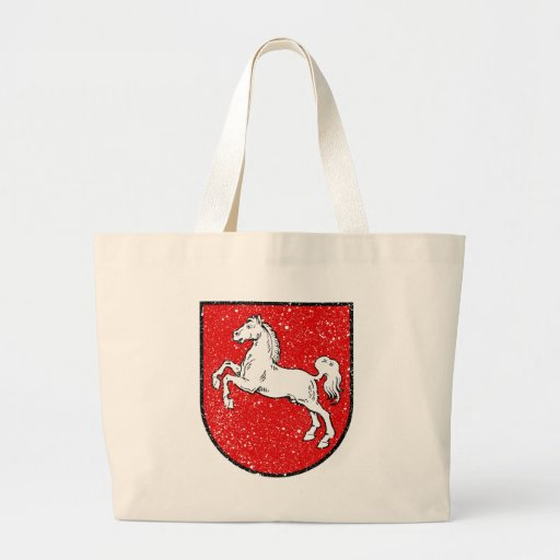 Aged Coat of arms of Lower Saxony Tote Bags