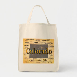 Aged Colorado State Pride Map Silhouette Bag