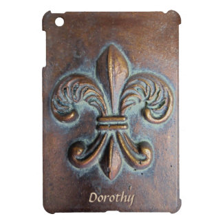 Aged Copper-Look Fleur de Lis iPad Mini Cover