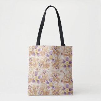 Aged Flower Clowns Pattern Tote Bag