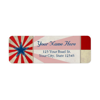 Aged Glory - Red, White and Blue Return Address Label