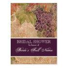 Aged Grape Vineyard Bridal Shower Post Card