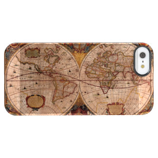 Aged Henricus Hondius' 1630 AD Old World Map Clear iPhone SE/5/5s Case