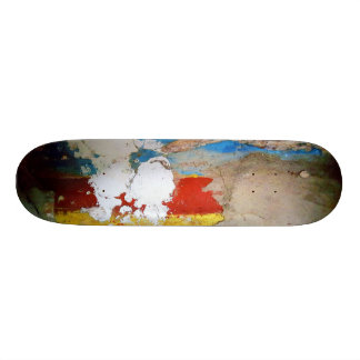 Aged Painted Concrete Wall Custom Skateboard