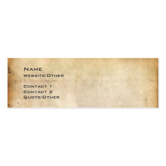 Aged Paper Business Card Template