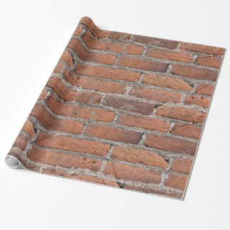 Aged Red Brick Wall Wrapping Paper