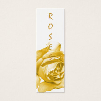 Aged Rose Bookmarks Mini Business Card