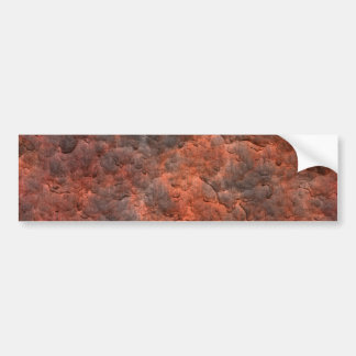 Aged Rusted Metal Bumper Sticker