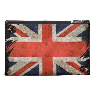 Aged shredded Union Jack Travel Accessory Bags