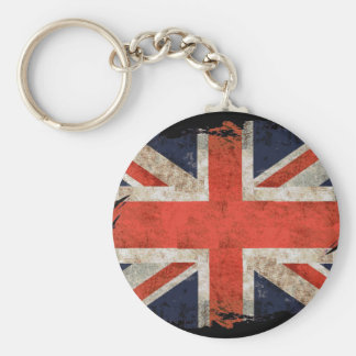 Aged shredded Union Jack Key Chain