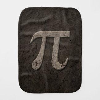 Aged Stone Effect Pi Math Symbol Burp Cloths