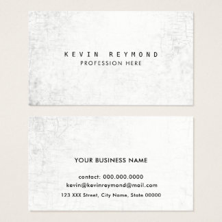 aged texture white professional elegant business card