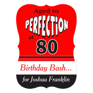 Aged to Perfection at 80 | 80th Birthday Card