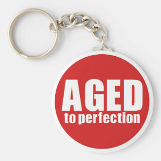 Aged to perfection basic round button key ring