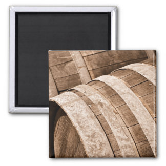 Aged to Perfection Wine Barrels Vintage Cellar Magnet