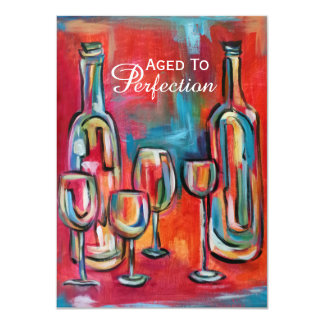 Aged to Perfection Wine Birthday Party Card