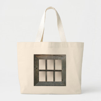 Aged Window Pane Jumbo Tote Bag